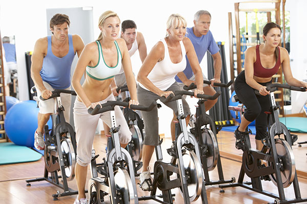Spinning Class at Healthy U Fitness Studio